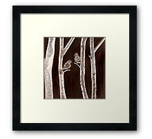 Two Brown Birds Framed Print