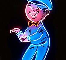 Neon Station Attendant by Carlos Solorza