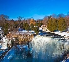 Webster's Falls - a Waterfall in Winter by MarkEmmerson