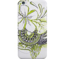 green flower lines  iPhone Case/Skin
