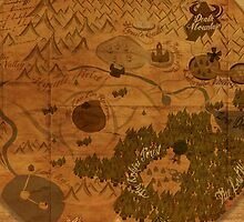 Hyrule Map: Antique style map of Hyrule (OoT) by Alice Edwards