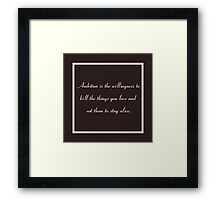 30 Rock Inspired Brown TV Show Jack Donaghy Quote  Framed Print