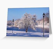 Winter Scene 4 Greeting Card
