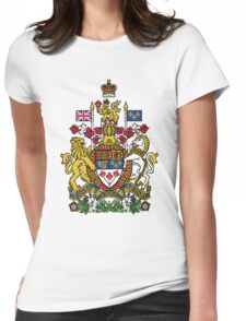 Canada Coat of Arms Womens Fitted T-Shirt