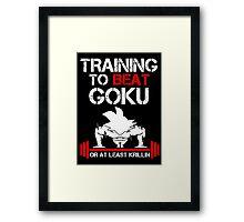Beat Goku Framed Print