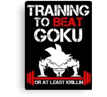 Beat Goku Canvas Print