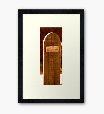 Yankee Jim Framed Print