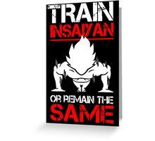 Train Insaiyan Greeting Card