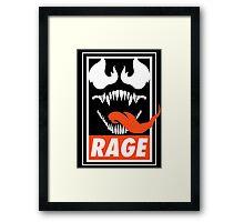 Rage. Framed Print