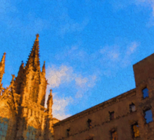 Warm Glow Cathedral - Impressions Of Barcelona Sticker
