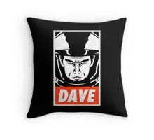 Dave. Throw Pillow