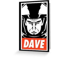 Dave. Greeting Card