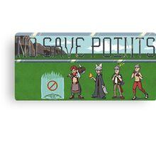 No Save Points Pixel Logo Canvas Print
