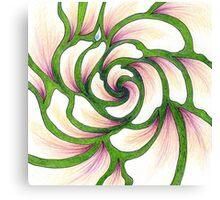Flower Whirlpool Canvas Print