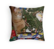 Where's My Present.?...oooh I Think I See It! Throw Pillow