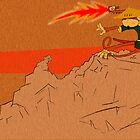 Single Samurai Monkey Defense with a Flaming Sword...of Flame! by Angelo Gines Jr.