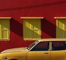Red wall, Kuala Pilah by Syd Winer