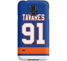 New York Islanders John Tavares Jersey Back Phone Case Samsung Galaxy Case/Skin