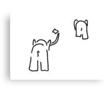pair of elephants say farewell Canvas Print