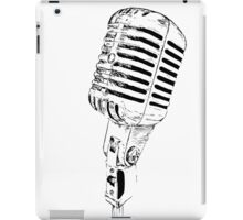 retro mic iPad Case/Skin
