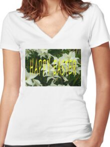 EASTER 51 Women's Fitted V-Neck T-Shirt