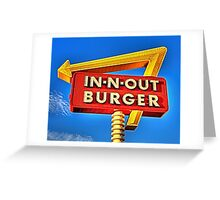 IN-N-OUT BURGER  Greeting Card