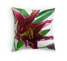 Grape Lily Throw Pillow