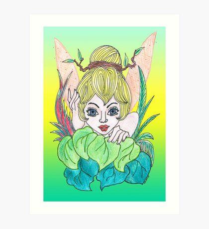 Feisty Fairy Tinkerbell Art Print