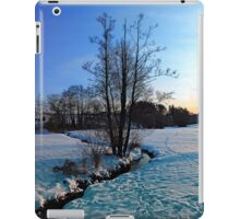 Trees and stream in winter wonderland | landscape photography iPad Case/Skin