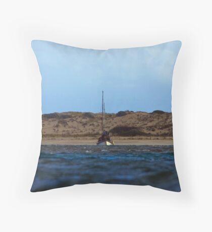 Sailing inland Throw Pillow