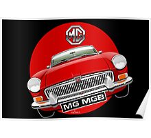 MGB chrome bumper red Poster