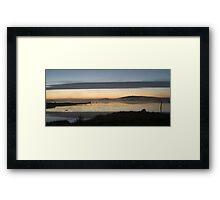 Sunset over Loch nam Magarian Framed Print