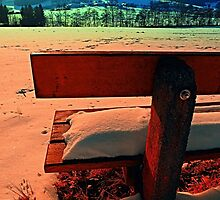 Enjoy the winter sun on a bench | landscape photography by Patrick Jobst