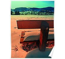 Enjoy the winter sun on a bench | landscape photography Poster