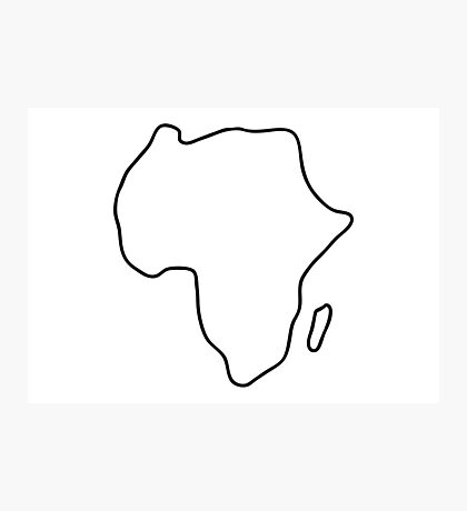 Africa African continent map Photographic Print