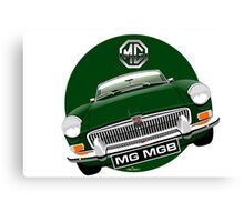 MGB chrome bumper British Racing Green Canvas Print