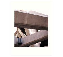 The Transamerica Building - concrete supports  Art Print