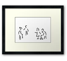 geriatric old people's home Framed Print