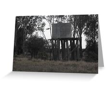 Water Tank on Rickety Stand Greeting Card