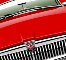 MGB chrome bumper red Sticker