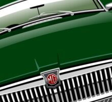 MGB chrome bumper British Racing Green Sticker