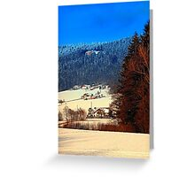 Bohemian forest winter scenery | landscape photography Greeting Card