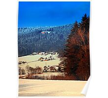 Bohemian forest winter scenery | landscape photography Poster