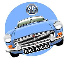 MGB chrome bumper light blue by car2oonz