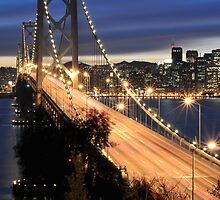 Bay Bridge at Night 2 by Stanley Ching