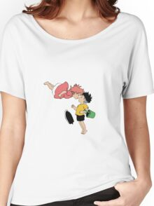Ponyo on the Cliff by the Sea Women's Relaxed Fit T-Shirt
