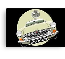 MGB chrome bumper Old English White Canvas Print