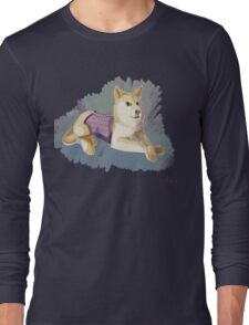 Doge in a Corset Long Sleeve T-Shirt