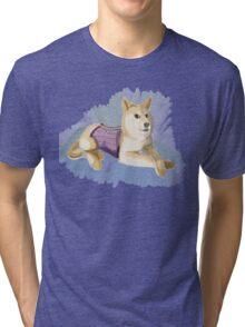 Doge in a Corset Tri-blend T-Shirt