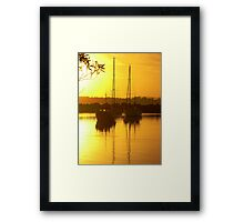 Glorious Golden Boats Framed Print